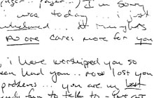 An excerpt of a letter that was hand-written by coach Randy Sheriff.